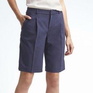Banana Republic Avery pinstripe bermuda shorts